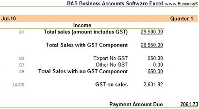 BAS Business Accounts Software BAS