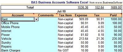 BAS Business Accounts Software